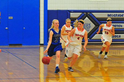 BBE vs. Ortonville girls' basketball 1-17-14