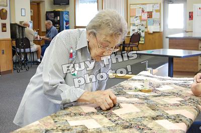 Dorothy Boeringer completes final quilt 9.8.2015